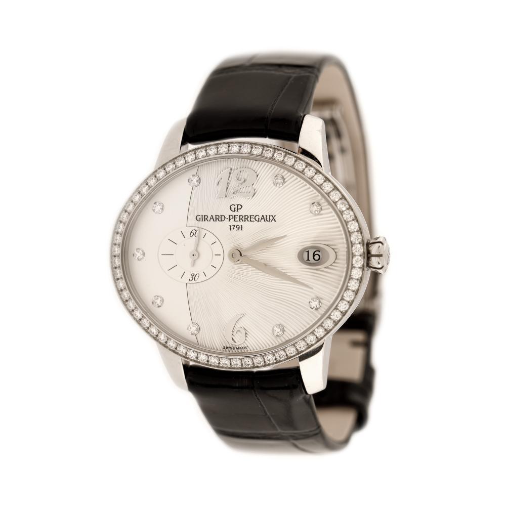 Girard Perregaux Cat's Eye wristwatch, women, decorated with diamonds