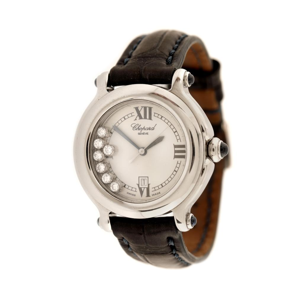 Chopard Happy Sport wristwatch, women, decorated with seven mobile diamonds