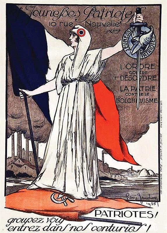 JAUDON RENE : Jeunesses Patriotes - L'ordre contre le Désordre - La Patrie contre le Bolchévisme 1925