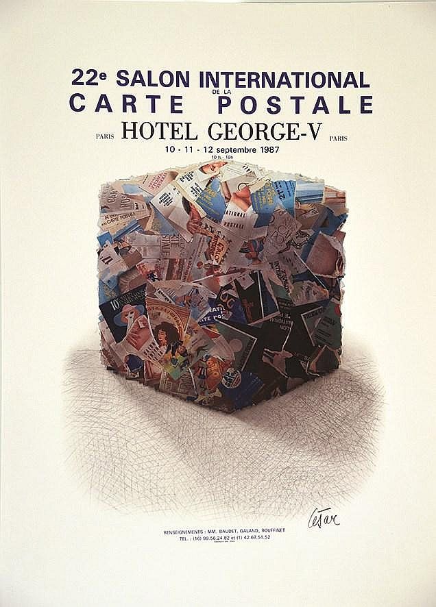 Cesar c sar 22e salon international carte postale h tel for Salon carte postale