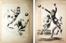 2 affiches d'un Match de Football