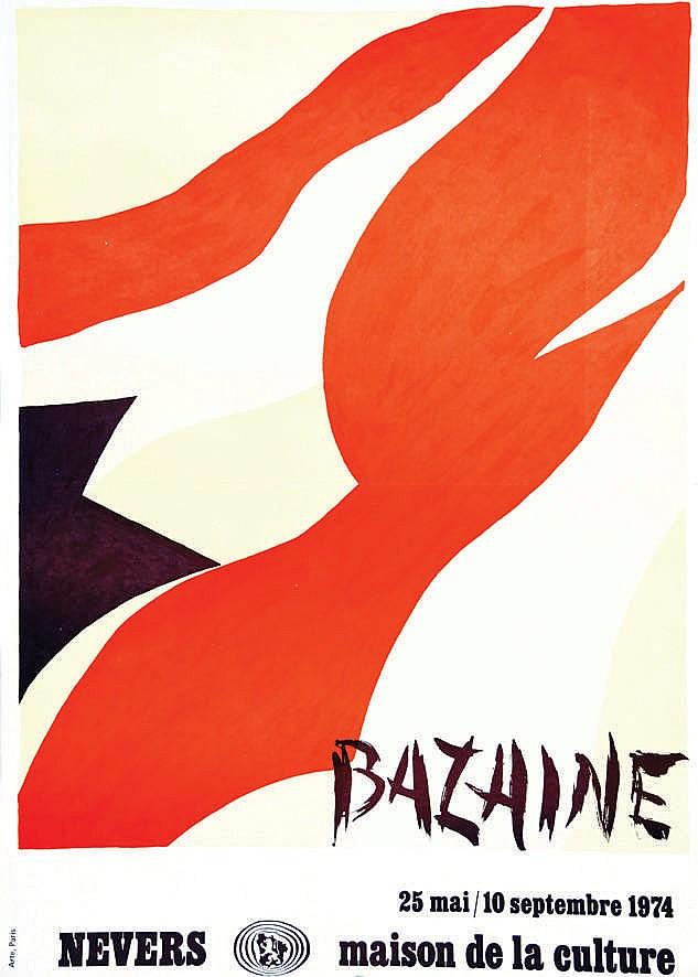 bazaine maison de la culture bazaine 1974 nevers ni 232 vre
