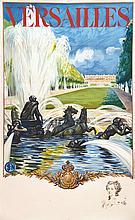 Versailles Le Château avec un portrait en remarque 1936