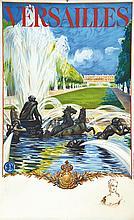 Versailles Le Château avec un portrait Madame de Pompadour en remarque 1936