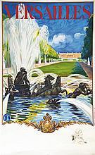 Versailles Le Château avec un portrait de Louis XIV en remarque 1936