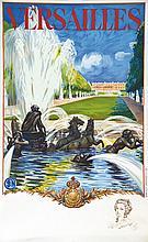 Versailles Le Château avec le portrait de Marie Antoinette en remarque 1936
