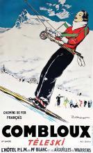 Combloux Téléski 1000 mètres Hotel PLM du Mont Blanc & les Aiguilles de Warrens vesr 1925
