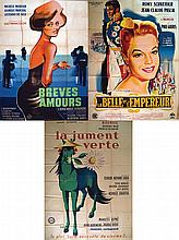 Lot de 13 Affiches Non Entoillée / Lot 13 Posters Not Lined     1950 - 1960