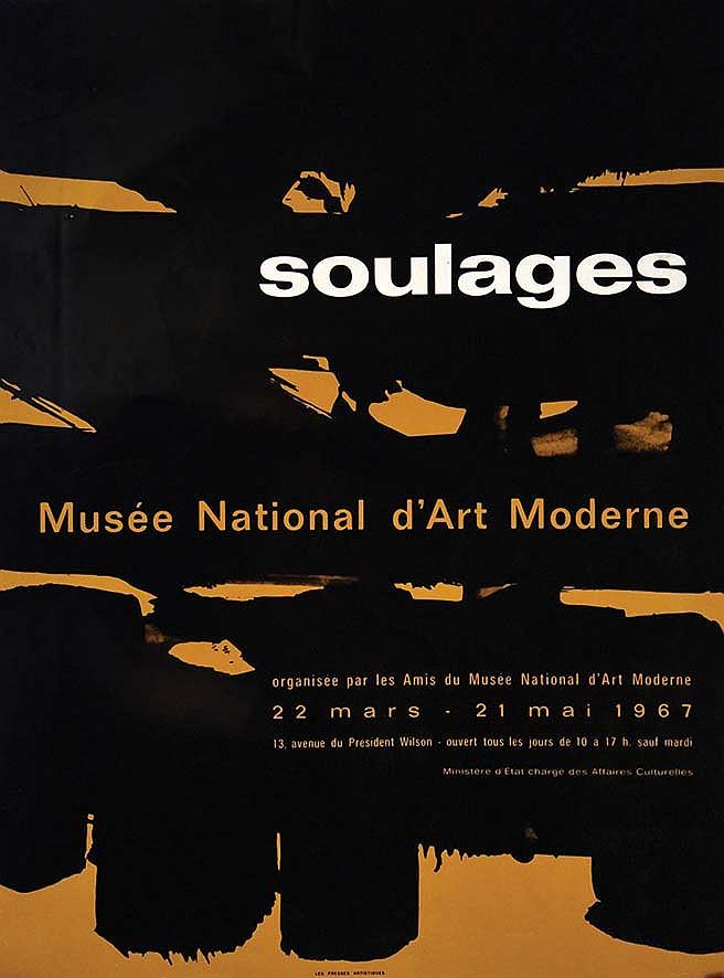 soulages mus 233 e national d moderne 1967