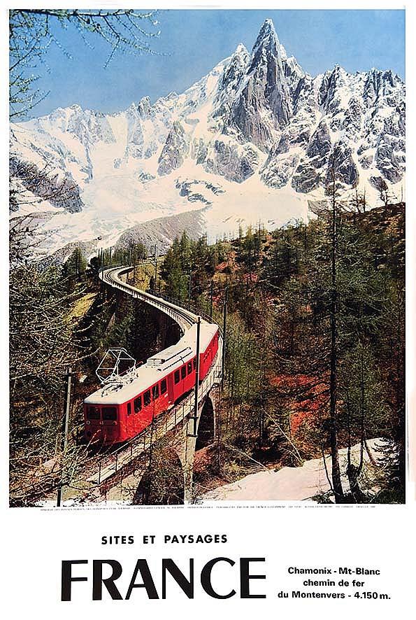 Chamonix france sites et paysages 1962 for Sites paysages