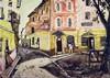 Avignon Rue des Grottes ( Rue des Maisons Closes )  Monotype signé par Yves Brayer     1945, Yves Brayer, €2,500