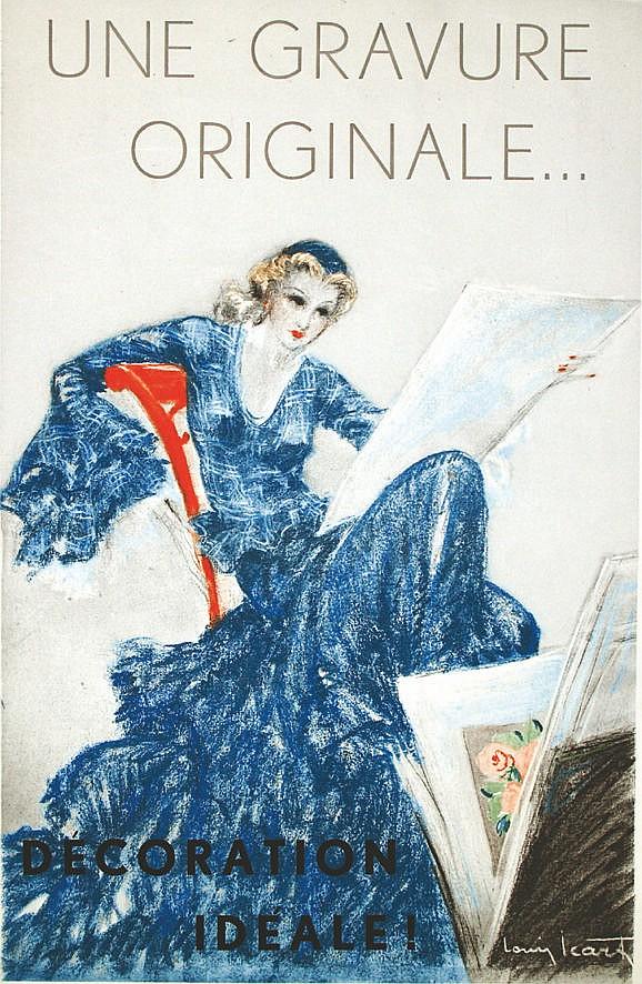 D Coration Id Ale Une Gravure Originale Vers 1930