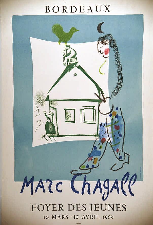 Chagall marc bordeaux foyer des jeunes 1969 for Foyer jeune travailleur bordeaux
