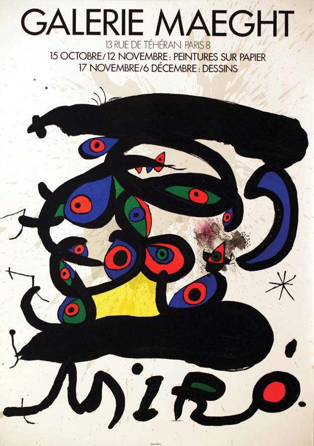 MIRO JOAN Miro vers 1970 Galerie Maeght. Paris. Peintures su