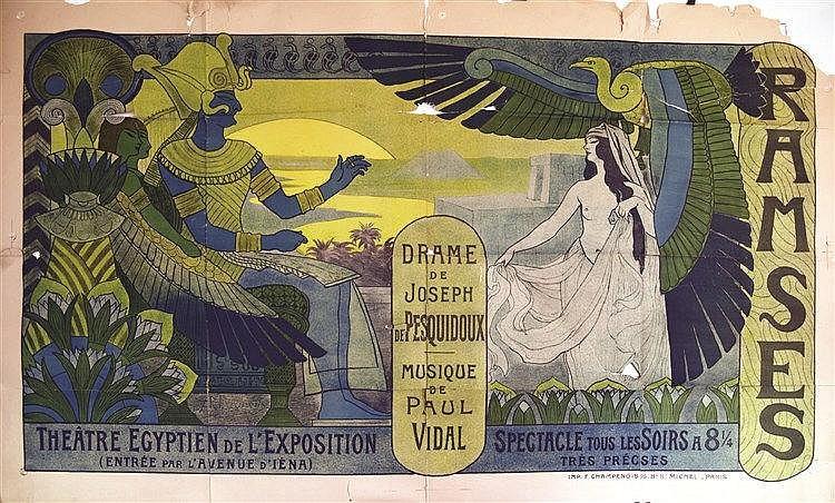 LAURENS  F.P.  Ramses - Théâtre Egyptien  de l'Exposition     1900