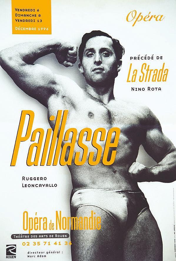 PHOTO : WD CORDIER  Paillasse Opéra de Normandie     1996  Rouen (Seine Maritime)