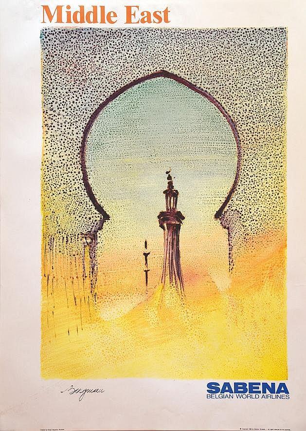 BERGMAN  Middle East Sabena     1988