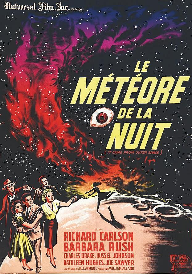 XARRIE  Le Météore de la nuit avec  Richard Carlson     1953