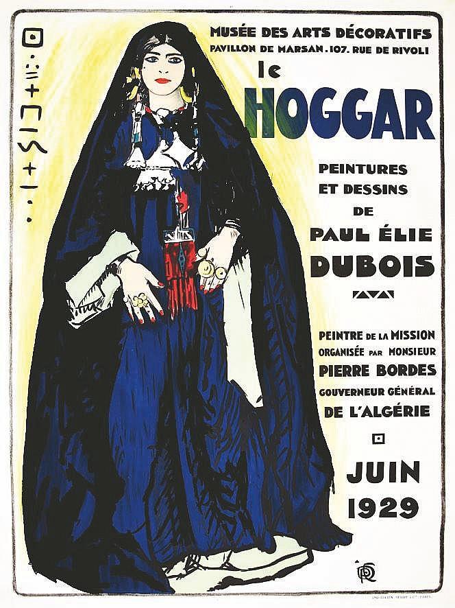 DUBOIS PAUL EMILE  Le Hoggar Musée des Arts Décoratifs Pavillon de Marsan Juin 1929     1929