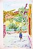 CAVAILLES JULES  Paysage d'Algérie - Gouache signée du Tampon J Cavailles     vers 1950, Jean Jules-Louis Cavailles, €1,500