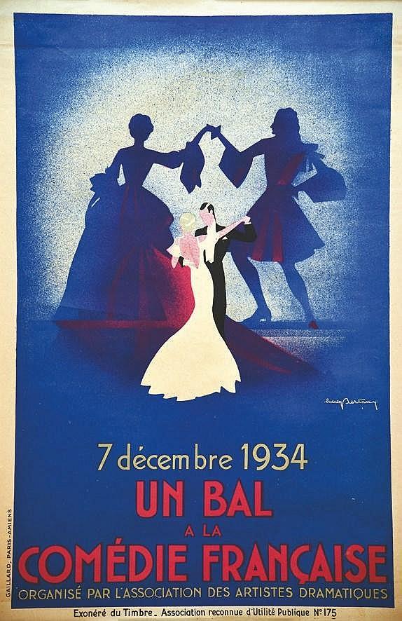 BERTAUX LUCIEN Bal de la Comedie Française 1934