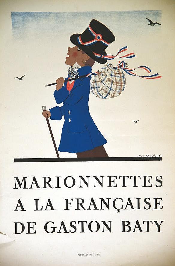 MARTY A.E.  Marionettes à la Française de Gaston Baty     vers 1930