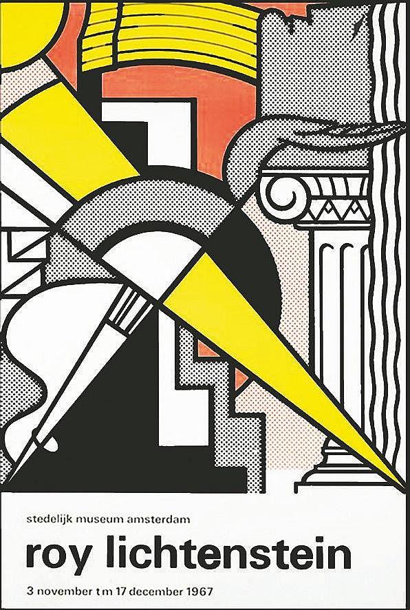 LICHTENSTEIN ROY Stedelijk Museum, Amsterdam - Très rare affiche originale premier tirage 1967