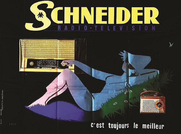 ERIC Schneider Radio Télévision vers 1950