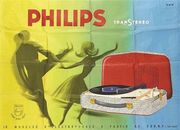 ERIC Philips TranStéréo serie 1961. Philips c'est plus sûr ! 1961