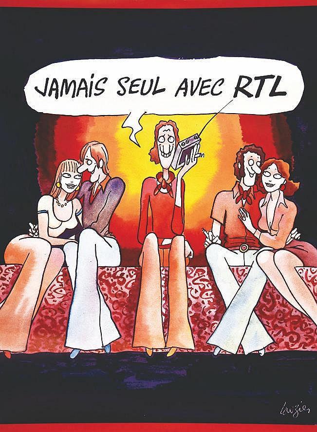LAUZIER GERARD RTL Jamais seul avec RTL 1980