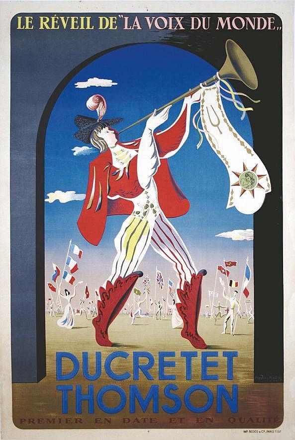 MALCLES JEAN-DENIS  Ducretet Thomson - Le Reveil de la Voix du Monde     1944