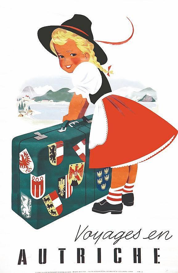 ATELIER HOFMANN  Voyages en Autriche     vers 1950