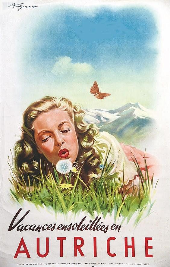 ATGUNT Vacances ensoleillées en Autriche vers 1950