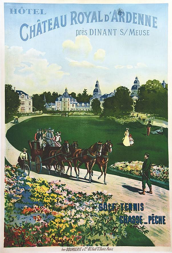Château Royal d'Ardennes près Dinant sur Meuse     vers 1900
