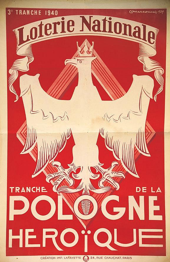 MARCOUSSIS Pologne - Tranche Héroïque Loterie Nationale 1940