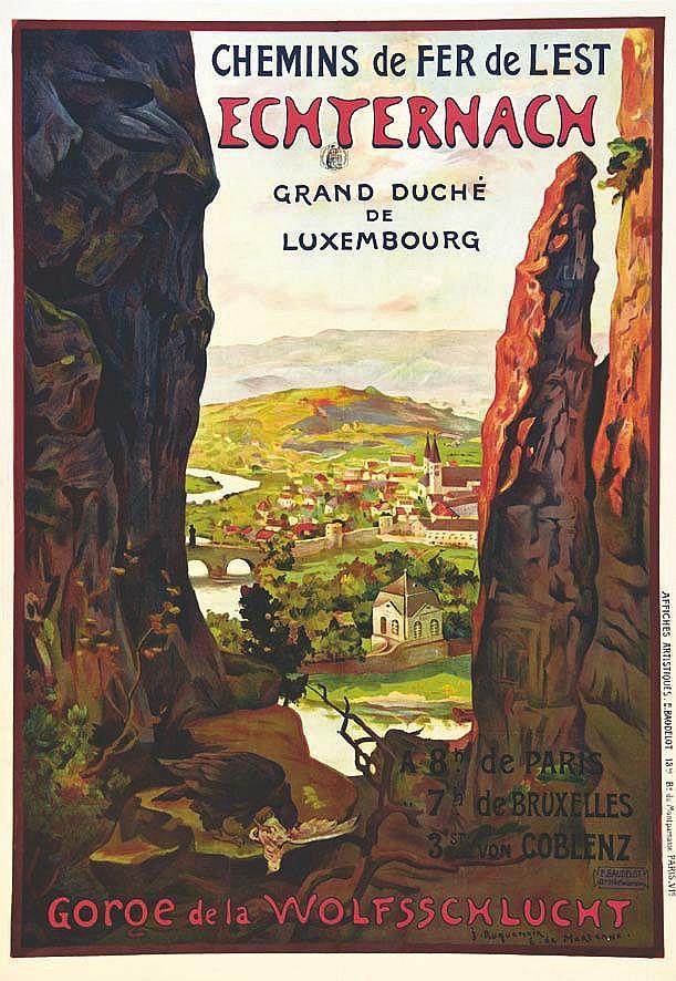 ROQUENOIR J. & MARTENNE E. de  Echternach - Gorge de la Wolfsschlucht - Très Rare     vers 1900