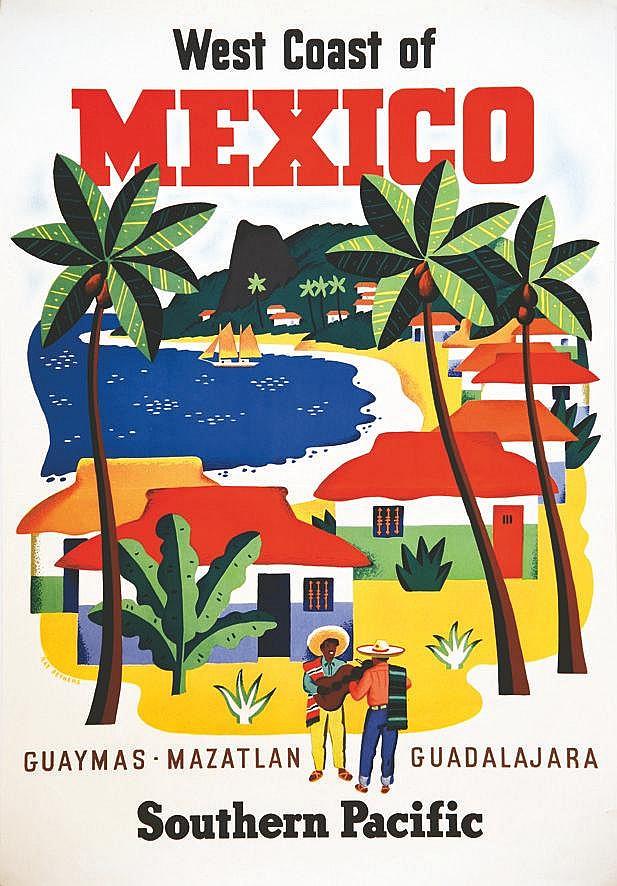 BETHERS RAY  Guaymas - Mazatlan - Guadalajara     1955