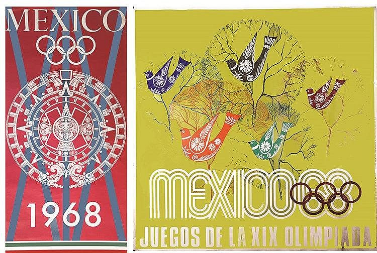 Lot de 14 Affiches sur les Jeux Olympiques de Mexico 1968 1968