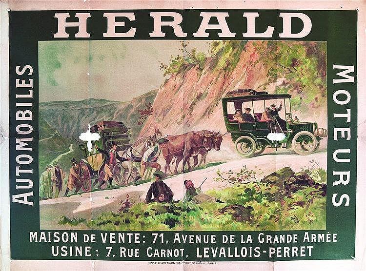 Herald Automobiles Moteurs     vers 1900