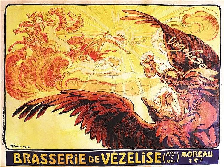 PROUVE V.  Brasserie de Vézelise     1914