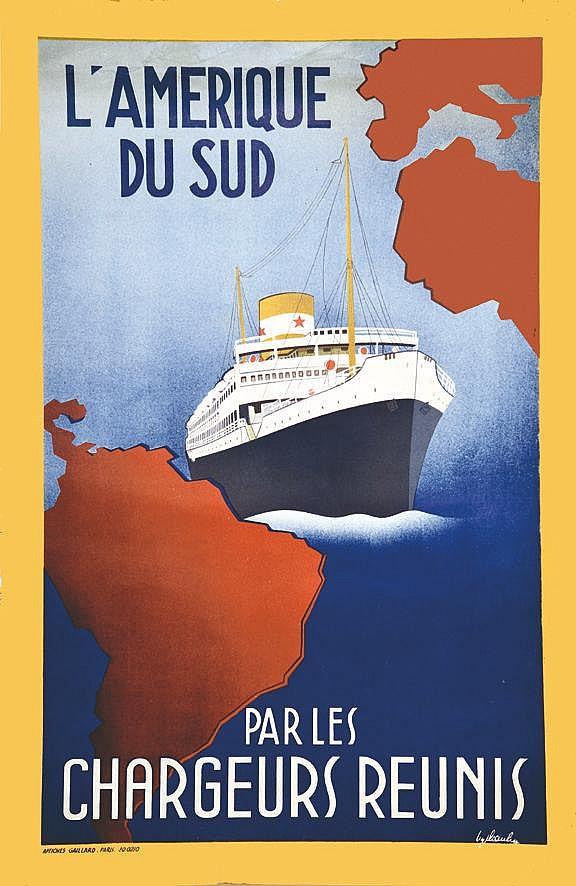 PAULIN  Chargeurs Réunis L'Amérique du Sud     vers 1950