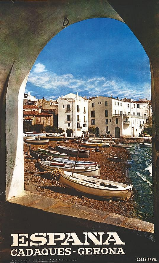 PHOTO : R. MASATS  Cadaques - Gerona - Costabrava     vers 1960
