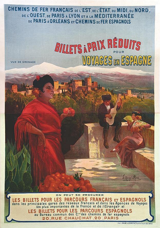 HUGO D' ALESI  F.  Voyages en Espagne