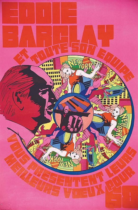 Eddie Barclay et toute son équipe vous souhaites les meilleurs 68     1968