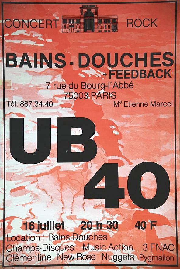 UB40 Bains Douches 1980