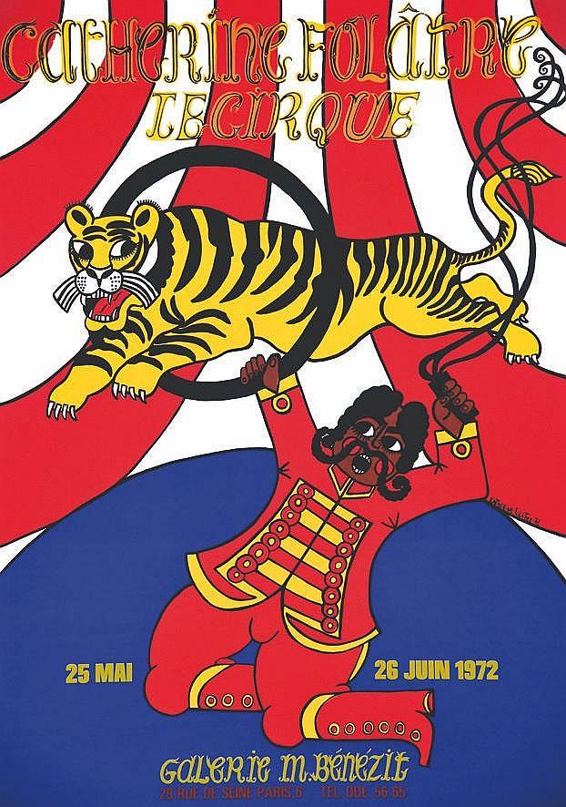 FOLATRE CATHERINE Le Cirque Galerie Bénézit - Belle Sérigraphie / Beatifull Sérigraph 1972