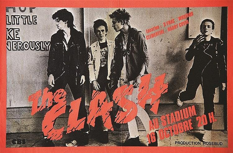 The Clash au Stadium Production Rosebud     1978