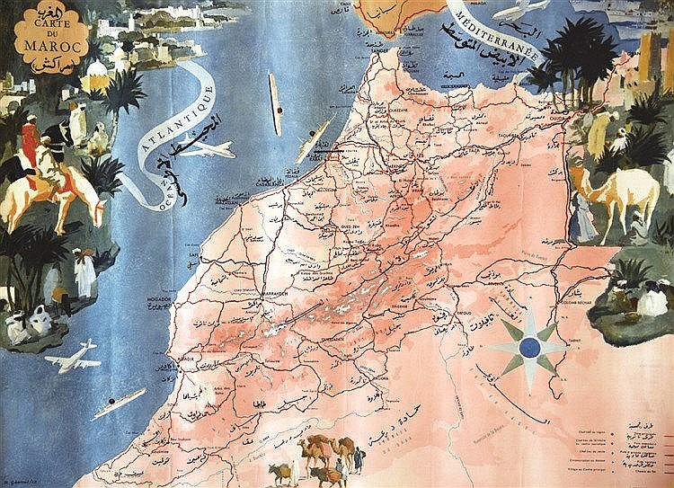 GENICOT R. Carte du Maroc 1955