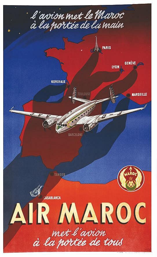 MOZ Air Maroc - Met L'avion à la Portée de Tous vers 1950