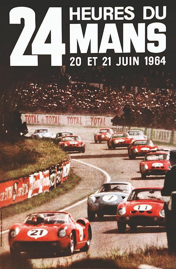 PHOTO  :  PARIS MATCH  24 Heures du Mans 20 et 21 Juin 1964     1964